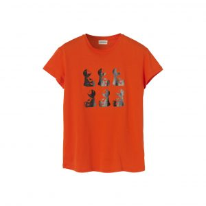edf2c6d4c65 By Malene Birger Chary cotton female T-shirt med bamse tryk